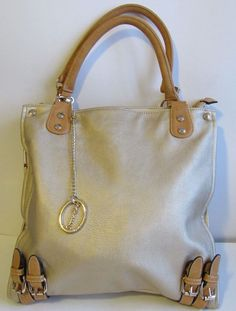 7819f60304 Sorrentino Handbag Gold Light brown trim 3 compartment Lots of Pockets  Unique GR  StSorrentino