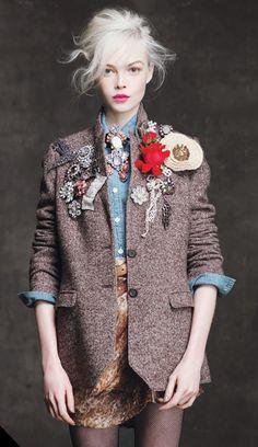 Customised vintage tweed jacket