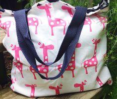 Giraffe diaper bag pink diaper bag giraffe bag by MissMacHandmade