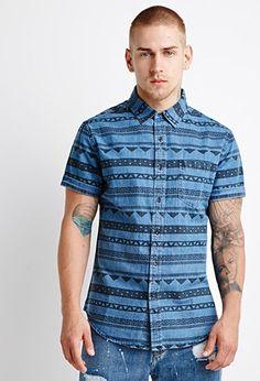Abstract Stripe Shirt | 21 MEN - 2000121050