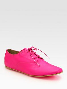 Maison Martin Margiela MM6  SEE DEATAILS HERE:Neon Leather Lace-Up Oxfords