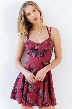 Floral printed Strappy Chiffon Dress