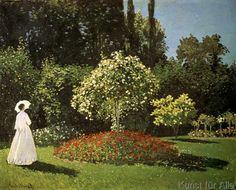 Claude Monet - C.Monet, Dame im Garten/ 1867