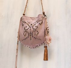 bag charm leather tassel dangle  bag by AgnesDeJuliisShop on Etsy, €20.00