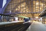 Incoming Train  Alexanderplatz S Bahn Station  Berlin  Germany  Europe