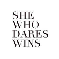 She who dares, wins. #qotd #modlook29