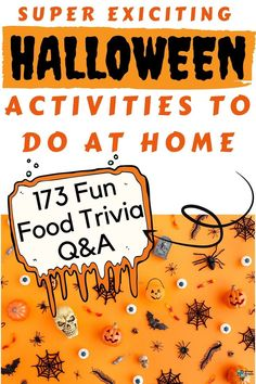 Food, glorious food! We all eat it, and we all love it – let's be honest. With so many different cuisines, ingredients and fun facts about food trivia though, it can be tricky to keep track of just what you might know about food. halloween games   halloween games for kids   halloween party   halloween house party   halloween party ideas for kids   halloween party games   halloween party games for kids   fun halloween party games   halloween party game ideas   family halloween party games Halloween Party Games, Kids Party Games, Halloween Activities, Family Halloween, Games For Kids, Halloween Fun, Halloween House, Kids Fun, Kid Activities