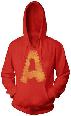 Alvin and the Chipmunks Alvin A Distressed Red Adult Hoodie Sweatshirt $37.95