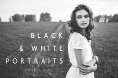 B&W Portraits Lightroom Presets by Presets Galore on Creative Market