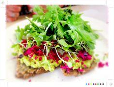 Toast: Auckland Eats: Little Bird Organics Unbakery Ortolana Auckland, Avocado Toast, Food Inspiration, Good Food, Healthy Eating, Organic, Restaurant, Bird, Breakfast
