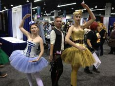 Ballet Star Wars Cosplay by Double Monacle and Oracle Apple Sniffer R2D2 and C-3P0
