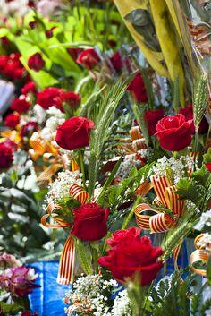 Diada de Sant Jordi (Saint George's Day) - Roses stall. 23 April.