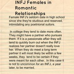 INFJ: Introvert iNtuituve Feeling Judging--This is so accurate! I love everything about this except for the typo in 'potential', haha.
