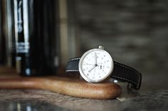 Men's Xetum watch: Tyndall, Off-White Dial, Brown Leather Strap