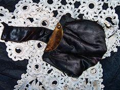 Antique Small Black Satin Sash Purse by VintageUnderTheSun on Etsy