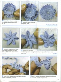 Tutorial for ric rac flowers