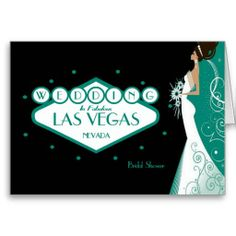 "Wedding in Fabulous Las Vegas ""Bridal Shower"" Card"