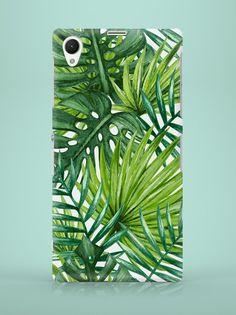 Sony Xperia Case - Palm Leaves - ZO-HAN - Obudowy do telefonów Sony Xperia, Palm, Leaves, Phone Cases, Hand Prints, Phone Case