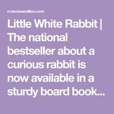 Little White Rabbit Kevin Henkes, Books A Million, Secure Storage, Board Book, Little White, Mothers Love, Easter Baskets, New York Times, Bestselling Author