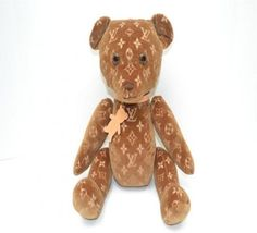 A teddy bear made under the Louis Vuitton brand, only 500 of these were produced, and one is worth $182,000.