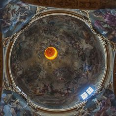 #love to visit #churches they tell me #alot of my #cultural #heritage and looking #upward can't be wrong in a #church and you might #find something that expresses #hope #like this #orange #light called #latern;  #architecture #medevial #artwork #stilllife #illumination #sculpture #urban #aera #bologna #sanpaolomaggiore #lifestyle #thankfullness #mindfulness #meditation