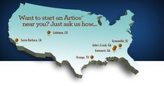 Artios Campus locations. More to come in fall of 2014.