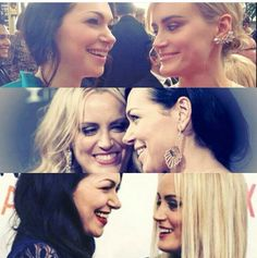 Laura Prepon and Taylor Schilling Best Tv Shows, Favorite Tv Shows, Taylor Schilling Laura Prepon, Alex And Piper, Orange Is The New Black, Celebs, Celebrities, Famous Faces, Girl Crushes