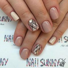 50 Winter Acrylics Short Nail Designs To Try This Season These trendy Nails ideas would gain you amazing compliments. Check out our gallery for more ideas these are trendy this year. Nude Nails, My Nails, Acrylic Nails, Neutral Nails, Stylish Nails, Trendy Nails, Nagellack Design, Manicure E Pedicure, Gold Manicure