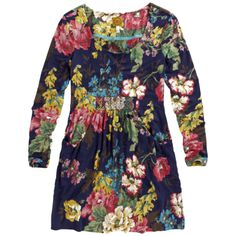 Women's Navy/Multi Alexi Floral Tunic Size 8 - Joules - Private sales | BrandAlley