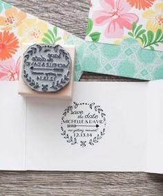 bodas DIY: invitación de boda con sello