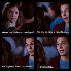 Jesse from Pitch Perfect i love him. One of the best lines Tv Quotes, Movie Quotes, Funny Quotes, Film Music Books, Music Tv, Funny Movies, Great Movies, Youre My Person, Book Tv