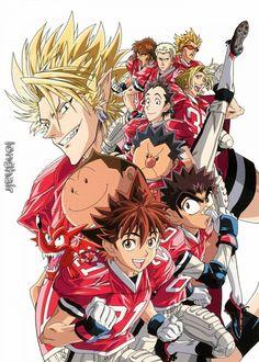 Tags: Anime, Eyeshield 21, Hiruma Yoichi, Raimon Taro, Ryokan Kurita, Shozo Togano, Koji Kuroki