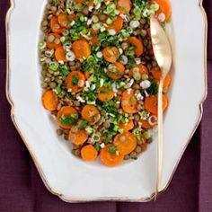 Spicy Carrot & Green Lentil Salad