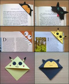 Why would you buy a bookmark when you can customize one for yourself? You can make one of these cute corner bookmarks in less than five minutes.   http://craft.ideas2live4.com/2015/05/10/cute-customized-corner-bookmarks/  Aren't these corner bookmarks cute?