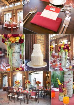Fall wedding, red wedding, fall wedding colors, arizona wedding, wedding planning, wedding decor, red and orange wedding flowers, gold wedding accents