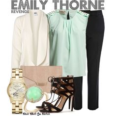 Inspired by Emily VanCamp as Emily Thorne on Revenge. Wish I was her