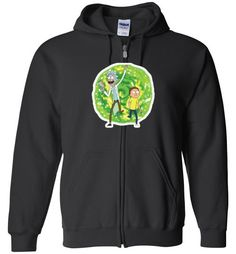 awesome Rick and Morty Unisex zip hoodie