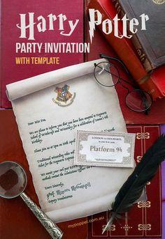 Printable Hogwarts Invitation Template Hogwarts acceptance letter Harry Potter Party invitation by .au via Free Printable Hogwarts Invitation Template Harry Potter Kostüm, Harry Potter Letter, Harry Potter Cosplay, Harry Potter Wedding, Harry Potter Invitations, Harry Potter Printables, Harry Potter Birthday Invitation, Harry Potter Acceptance Letter, Lili Estefan