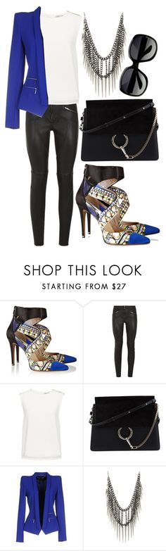 """""""#57"""" by cheshirecat03 ❤ liked on Polyvore featuring Nicholas Kirkwood, Givenchy, Finders Keepers, Chloé, Barbara Bui, Blue, sunglasses, chloe and Harrods"""