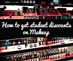 How college students can save on makeup. I wish I pinned this months ago!!!