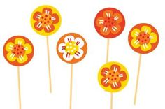 Free printable: Cupcake toppers for Koninginnedag