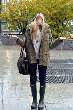 The jacket.  The boots.  The purse.  Love fall weather!