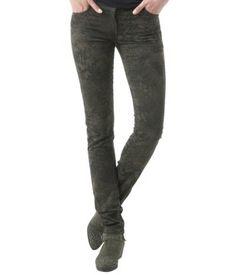 Printed slim-leg trousers #Promod