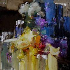 """Saatchi Arte Artista Iryna Yermolova;  Pittura #art, """"Garden Still Life"""""""