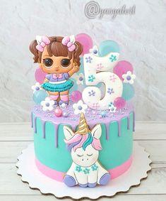 Mini Mouse Birthday Cake, Birthday Cake Girls, Mini Cakes, Cupcake Cakes, Sewing Cake, Little Girl Cakes, Sugar Dough, Lol Dolls, Cake Art