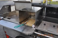 Single large basket fryer  - catering truck - TopDogCarts.com