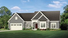 Home Plan HOMEPW77430 - 2006 Square Foot, 3 Bedroom 2 Bathroom Ranch Home with 2 Garage Bays | Homeplans.com