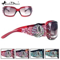 WESTERN BOOTS BEADS SUNGLASS - BK/CF/LP/RD  See more at http://www.montanawest.ca/collections/sunglasses