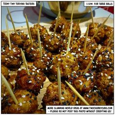 These low synteeny tiny teriyaki tasters are perfect for a Slimming World taster night - easy to make, but they look wonderful and taste fantastic!