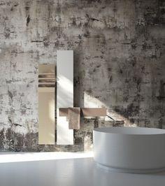 nowoczesny grzejnik do łazienki - po więcej inspiracji zapraszam na bloga Pani Dyrektor.